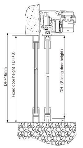 installation of guide rail drawing D5