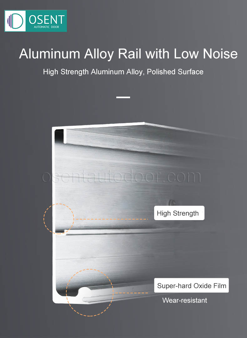 aluminum alloy rail for sliding door opener