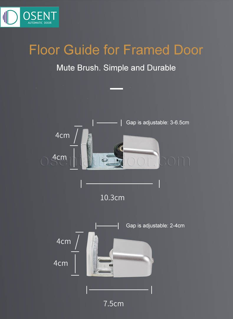 floor guide for frame door