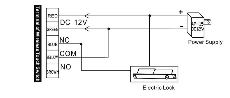 wiring diagram for electric lock