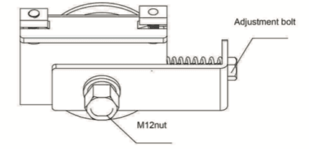 Adjustment of the belt tension drawing