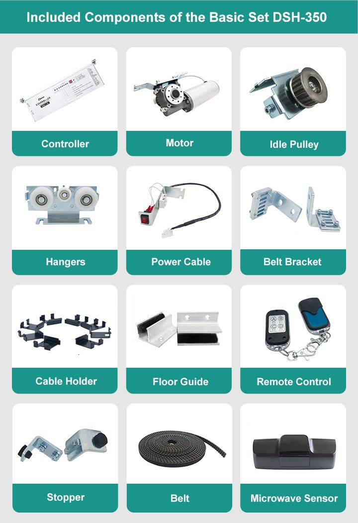 Included components of the basic set DSH 350