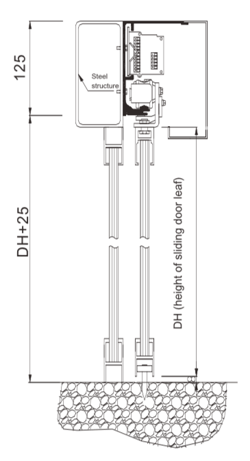 guide rail installation drawing 1