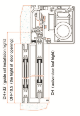installation of guide rail drawing
